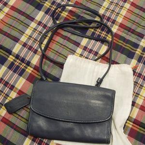 Vintage 1990s Coach Blue Leather Mini Bag